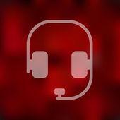 ícone de fones de ouvido — Vetor de Stock