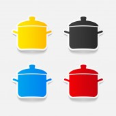 Saucepan icon — Stock Vector