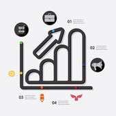 Marketing infographic — Stock Vector