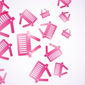 Abstract background with basket — ストックベクタ