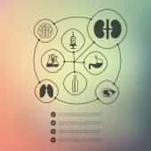 Medizin infographic — Stockvektor