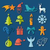 Set of Christmas icons — Vecteur