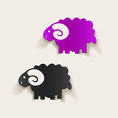 Sheep icon — Stock Vector