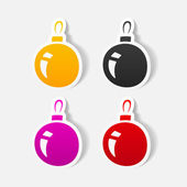 Christmas ball icon — Stock Vector