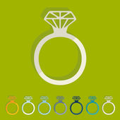 Ring icon — Stock Vector