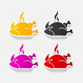 Chicken icon — Stock Vector