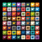 Heart icon — Stock Vector