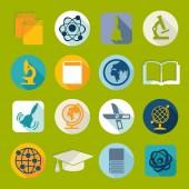 Набор иконок плоские образования — Cтоковый вектор