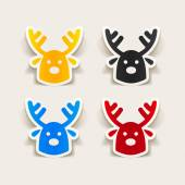 Christmas deer icon — Stock Vector
