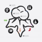 Christmas infographic — Stok Vektör