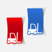 Forklift icon — Stock Vector