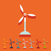 Wind turbines icon — Stock Vector