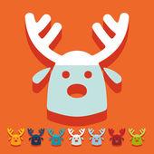 Christmas deer icon — Stock Vector