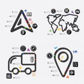 Навигация инфографики — Cтоковый вектор