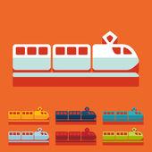 Icono de tren — Vector de stock