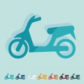 Scooter icon — Stock Vector