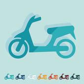 Icona scooter — Vettoriale Stock