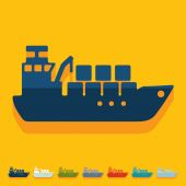 Cargo ship icon — Stock Vector