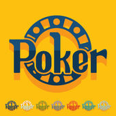 Poker icons — Stockvektor