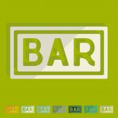Bar icons — Stock Vector