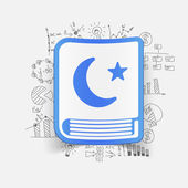 Koran icon with business formulas — Stock Vector