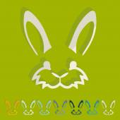 Easter rabbit icon — Stock Vector