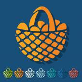 Easter basket icons — Stock Vector
