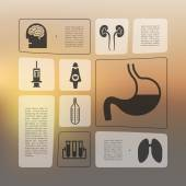 Medical infographic — Stock Vector