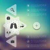 Medicine infographic — Stock Vector