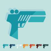 Gun game icon — Stock Vector
