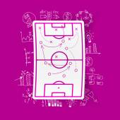 Playing field, tactics icon — Stock Vector