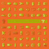 Technology flat icons — Stock Vector