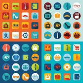 Set of fashion flat icons — Stockvektor