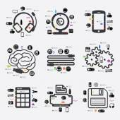 Infográfico de tecnologia — Vetor de Stock