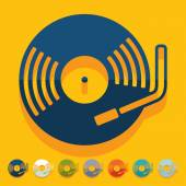 Turntable icon — Vector de stock