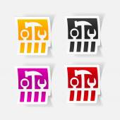 Set of tools icon — Stock Vector