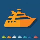 Yacht icon — Stock Vector