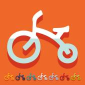 Childrens bike icon — Wektor stockowy