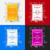 Playing field icon with business formulas — Stock Vector