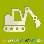 Excavator icon — Stock Vector