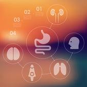 医学のインフォ グラフィック — ストックベクタ
