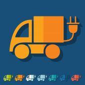 Ikona samochodu Eco — Wektor stockowy