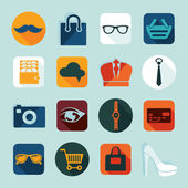 Set of fashion icons — Stock Vector