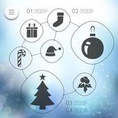 Christmas infographic — Stock Vector
