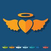 Heart angel icon — Stock Vector