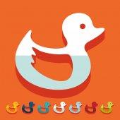 Duck icon — Stock Vector