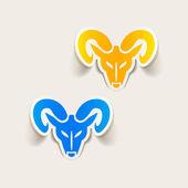 Head of the ram icon — Stock Vector