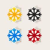 Icona di fiocco di neve — Vettoriale Stock