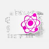 Drawing business formulas with atom — Stock Vector