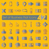 Set of business flat icons — Stock Vector